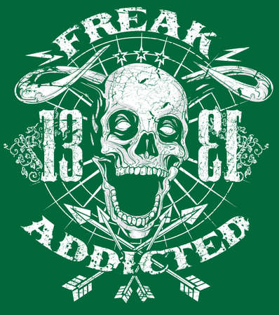 Freak addicted art Vector