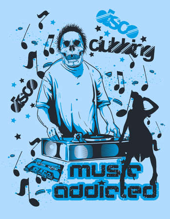Music addicted art Vector