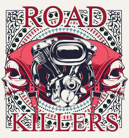 Road killer design Vector