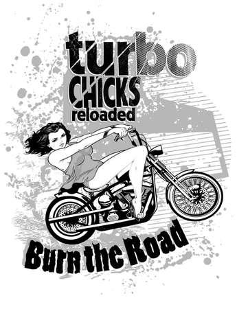 Turbo chicks Vector