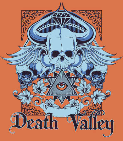 death valley: Death Valley illustration