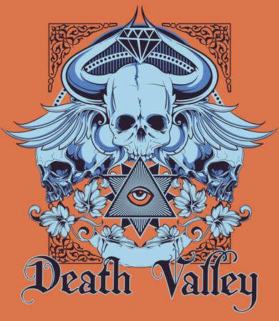 death valley: Death Valley illustration
