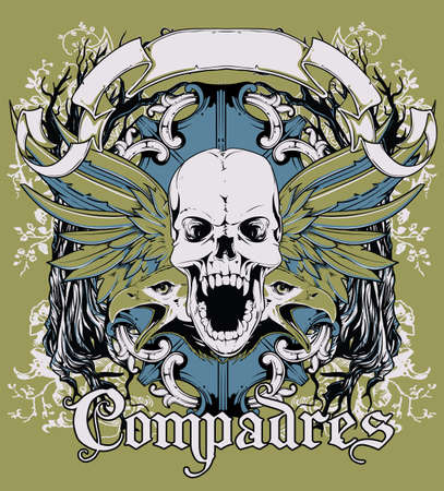 cross and wings: Compadres