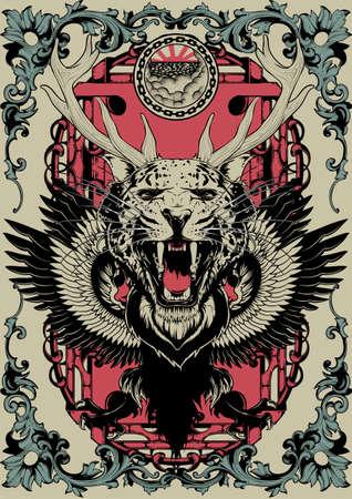 Animal mix  イラスト・ベクター素材