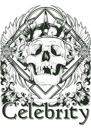 warrior tribal tattoo: Royal celebrity Illustration