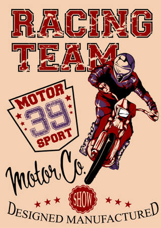 motocross riders: Motor race