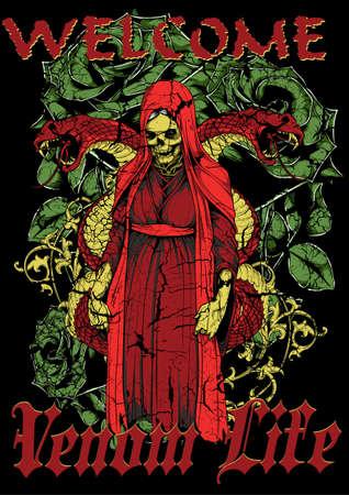 angel cemetery: Venom life Illustration