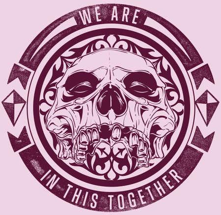 tete de mort: Crâne bande Illustration