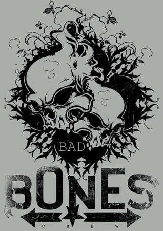 vampire teeth: Bad bones crew Illustration