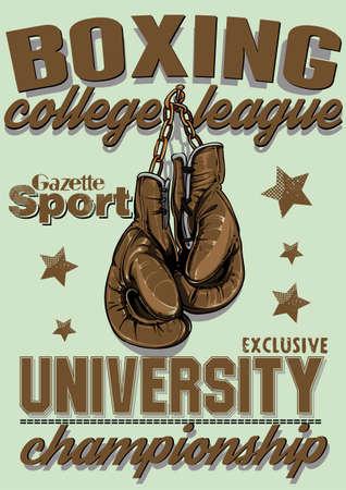 guantes de box: Liga de Boxeo