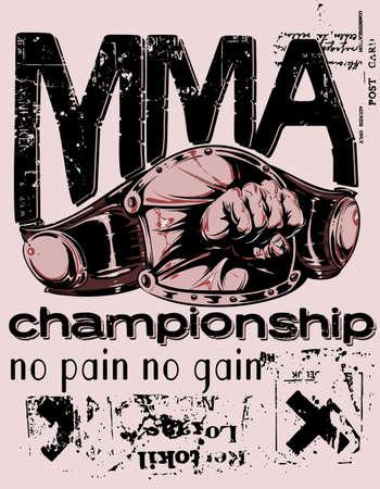 mixed martial arts: Artes marciales mixtas