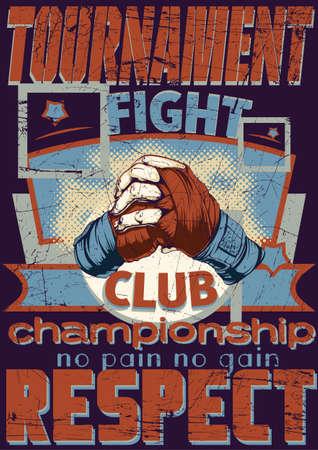 pelea: Club de Lucha Vectores