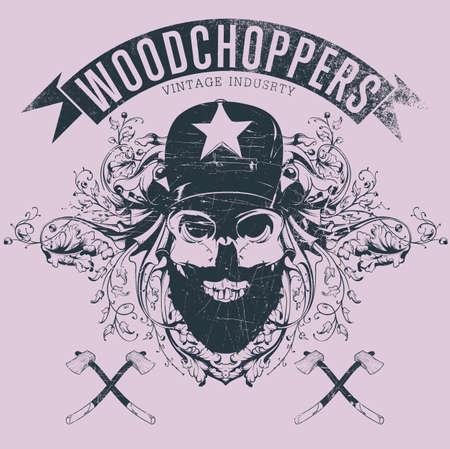 Woodchopers Stock Illustratie