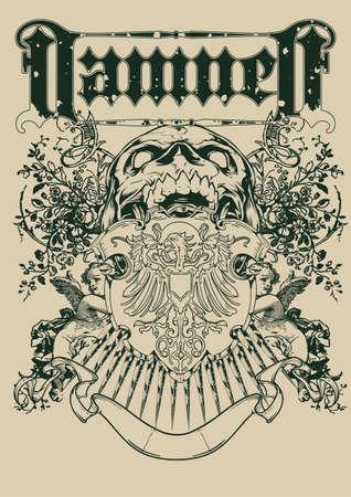 warrior tribal tattoo: Damned