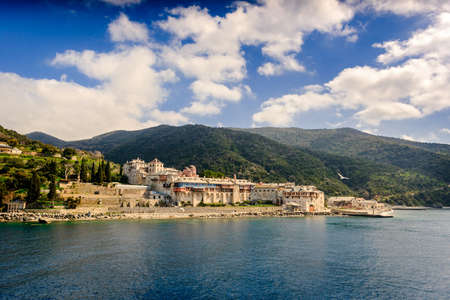 Monastery in Mount Athos Greece
