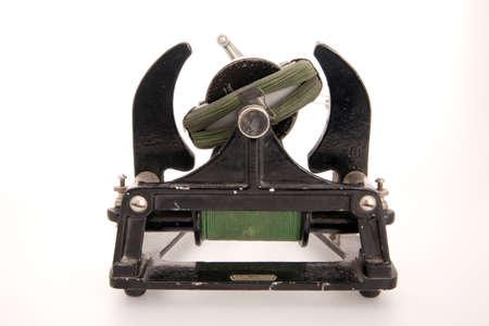 dynamo: AC DC electromagnetic manual motor generator for educational purposes Stock Photo