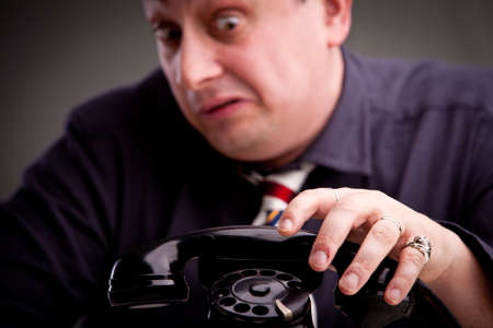 odd jobs: Telephone rings and the clerk is afraid of taking the call
