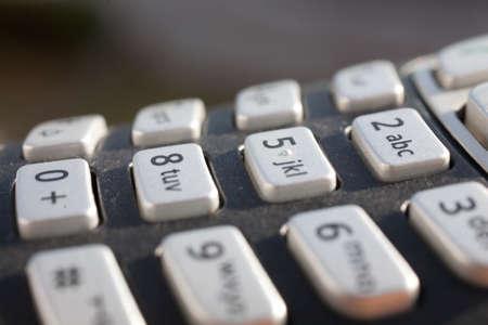 teclado num�rico: macro o primer plano de un teclado num�rico en la luz solar directa