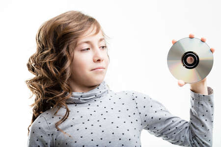 compact disk: a compact disk has become outdated for new generations Stock Photo