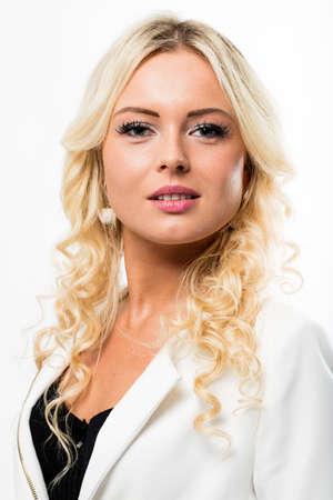 formal portrait: east-european business woman posing in a formal portrait