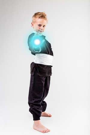 laser beam: little kid shooting his laser beam like a famous superhero