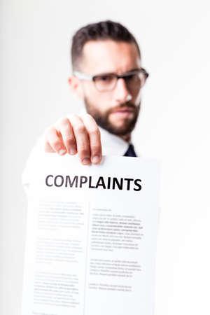 Beschwerden von Kunden gezeigt disapponted