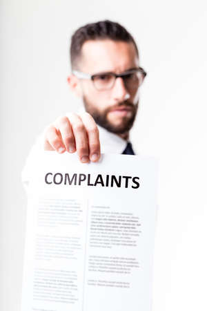 shown: complaints shown by disapponted customer