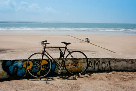 Bycicle near the beach in Essaouira, Morocco
