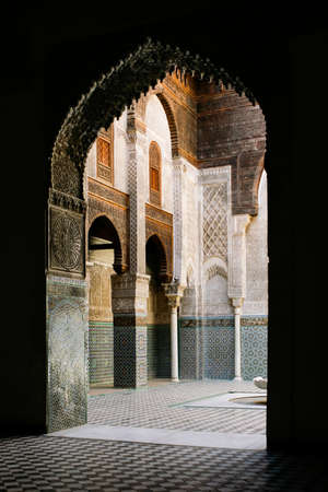 Internal gate in Fez Royal Palace, Morocco