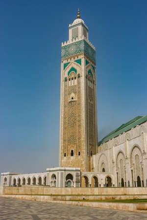Minaret of Casablancas Mosque, Morocco