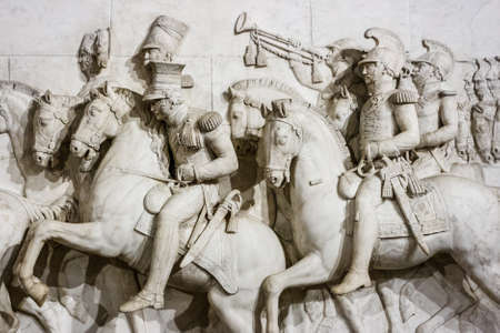 Bas-relief rievocating italians independence wars in the museum of the Risorgimento Italiano, Turin, Italy