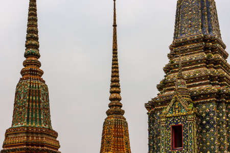 Phra Chedi Rai, monuments built by King Rama III to hold the ashes of the royal family, at the Wat Pho Temple, Bangkok, Thailand