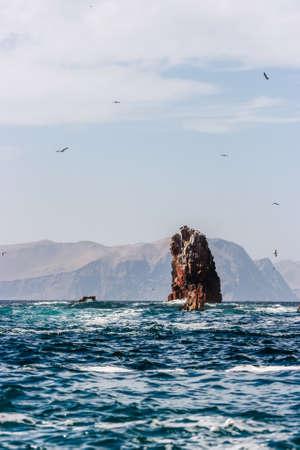 Senic view of the Islas Ballestas, Paracas Peninsula, Peru