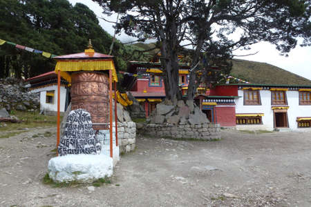 The entrance of the old Khumjung Gompa, Everest Base Camp trek, Nepal