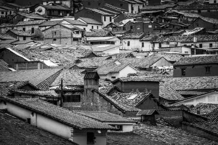 The roofs of the houses of Cusco, Peru