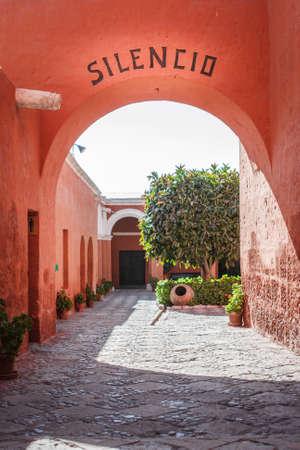 View of the interiors of the Santa Catalina Monastery, Arequipa, Peru