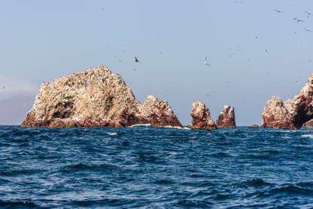 Islas Ballestas as viewed from the boat, Paracas Peninsula, Peru Stock fotó