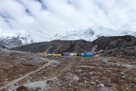 Picture of the Imja Tse, Island Peak, Base Camp, Everest Base Camp trek, Nepal 写真素材
