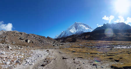 View of mount Lhotse, seen from Lobuche, Everest Base Camp trek, Nepal
