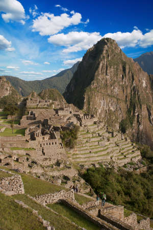 Panoramic of Machu Picchu ruins in Cuzco, Peru Banco de Imagens
