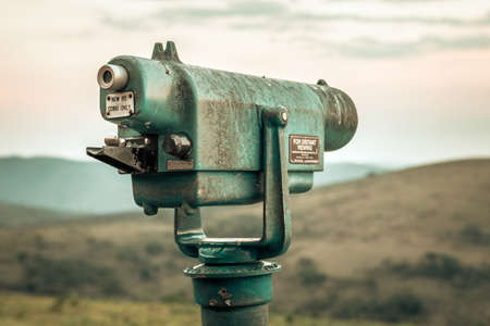 Picture of a telescope for sightseeing in the Hluhluwe - imfolozi National Park in South africa Stock Photo
