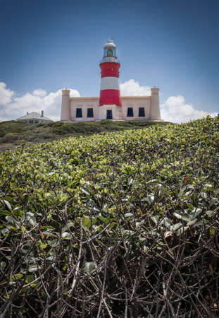 Picture of the lighthouse of Cape Agulhas, the southernmost point of africa