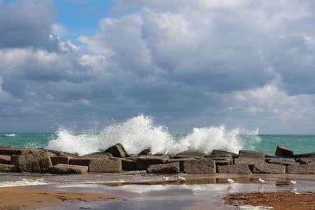 rough sea: rough sea Stock Photo