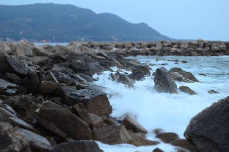 italy coast with waves