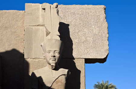Egypt, detail of the Ramses statue in the archaeological site of Karnak