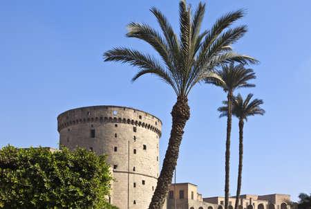foreshortening: Egypt, Cairo, foreshortening of the  Salah Al Din citadel Stock Photo