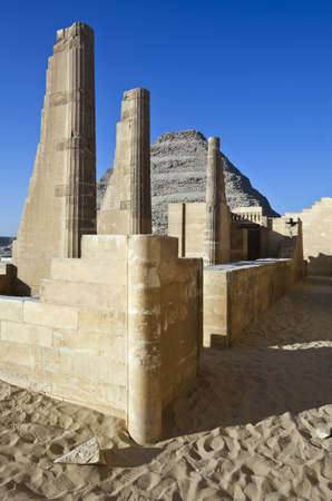 stepped: Egypt, archaeological site of Sakaka, the stepped pyramid
