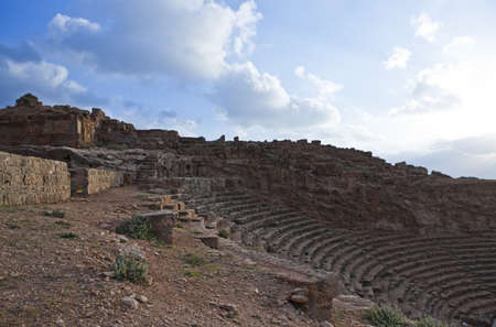 libya: Libya,archaeological site of Apollonia,the Greek theatre