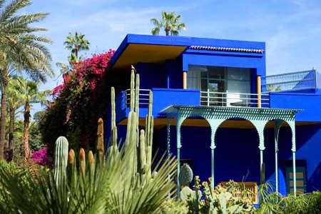 africa: Marrakech, Morocco - March 27, 2006: The Majorelle villa and gardens Editorial