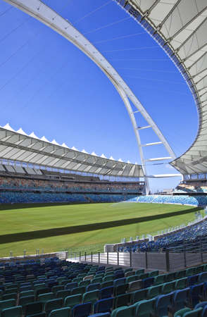 mabhida: Durban, South Africa - March 11, 2010:  World Cup 2010, the Moses Mabhida stadium with a  capacity of 70.000